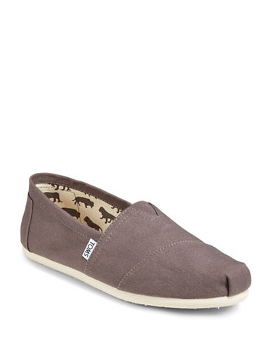 Toms Classic Canvas Slip-Ons-GREY-13