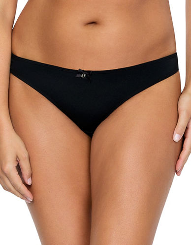 Parfait Jeanie Seamless Thong-BLACK-Small