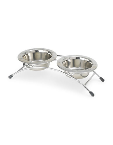 Petrageous Designs Three-Piece Aruba Arched Diner Set-STAINLESS STEEL-One Size