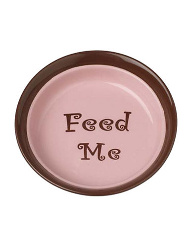 Petrageous Designs Sassy Girl Shallow Feed Bowl-PINK-One Size