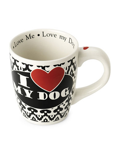 Petrageous Designs I Love My Dog Jumbo Mug-BLACK/WHITE-One Size