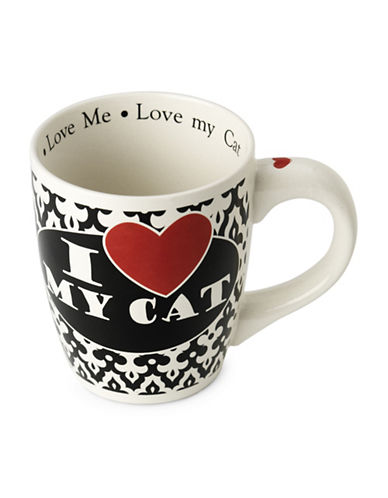 Petrageous Designs I Love My Cat Mug-BLACK/WHITE-One Size 89500281_BLACK/WHITE_One Size