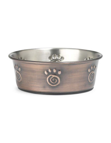Petrageous Designs Paws Stainless Steel Bowl-BRONZE-One Size