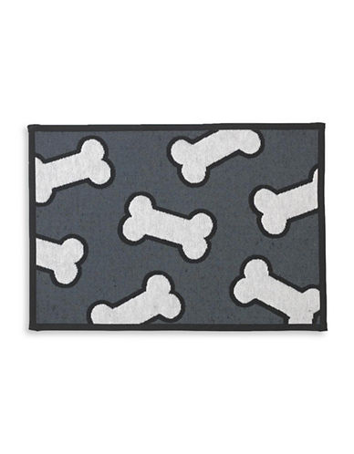 Petrageous Designs Scattered Bone Placemat-BLACK/WHITE-One Size