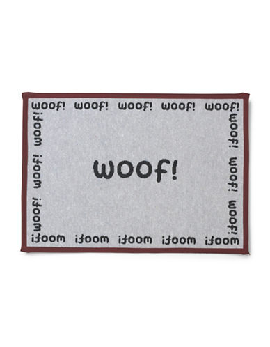 Petrageous Designs Woof Tapestry Placemat-BLACK-One Size