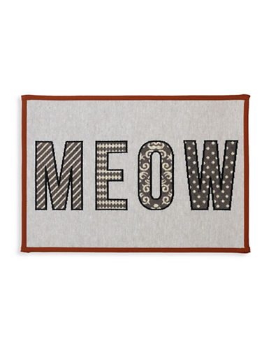 Petrageous Designs Meow Tapestry Place Mat-GREY-One Size