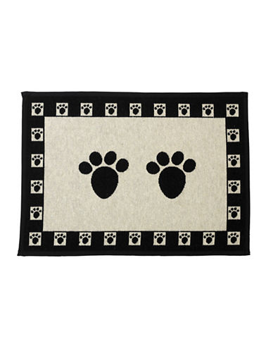 Petrageous Designs Paws Tapestry Place mat-BLACK/WHITE-One Size