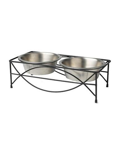 Petrageous Designs Jamaica Pet Diner Bowls-GREY-One Size