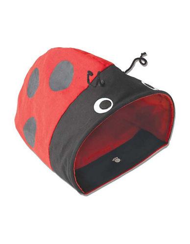 Petrageous Designs Lady Bug Hide Way Cat Cave-RED/BLACK-One Size