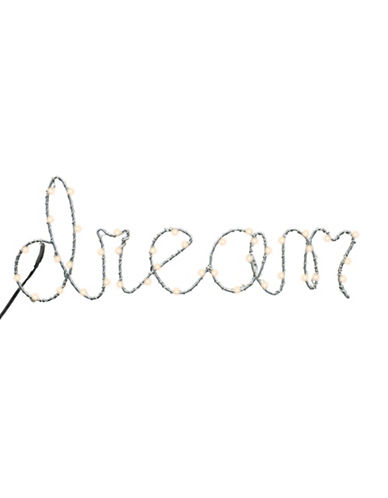 Merkury Innovations Dream Light Up LED Wall Decor-WHITE-One Size