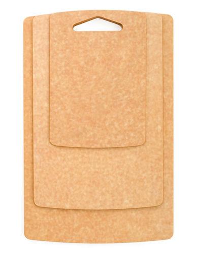 Epicurean Three-Piece Cutting Board Set-BROWN-3pc