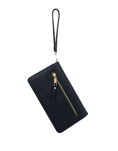 Design Lab Lord & Taylor Wallet on Chain Wristlet-BLACK-One Size