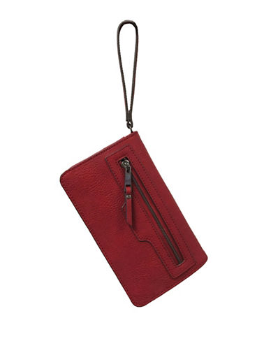 Design Lab Lord & Taylor Wallet on Chain Wristlet-RED-One Size