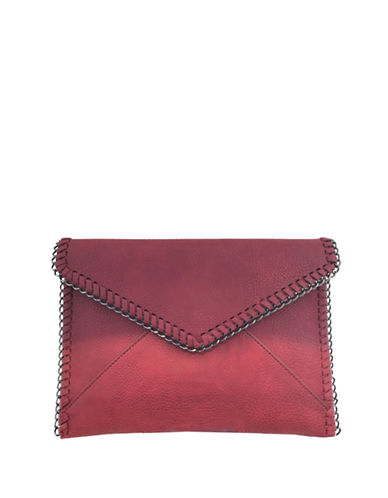 Design Lab Lord & Taylor Metallic Envelope Clutch-RED-One Size