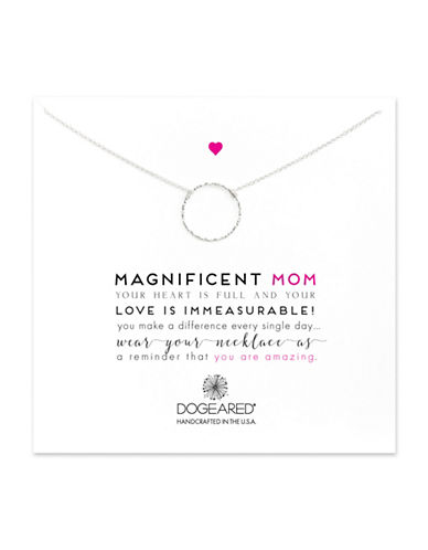Dogeared Magnificent Mom Sterling Silver Necklace-SILVER-One Size