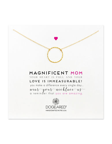 Dogeared Magnificent Mom Necklace-GOLD-One Size