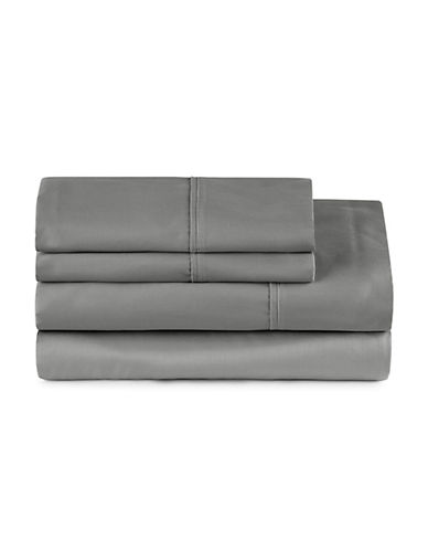Distinctly Home Four-Piece 400 Thread-Count Egyptian Cotton Sheet Set-GREY-King