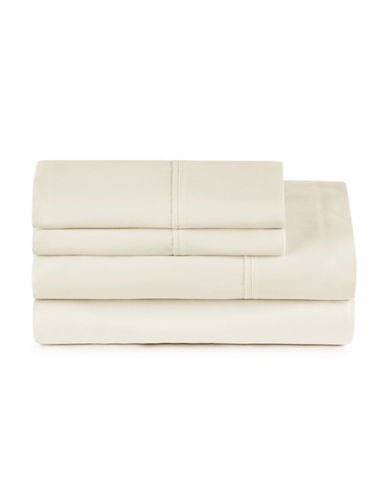 Distinctly Home Four-Piece 400 Thread-Count Egyptian Cotton Sheet Set-VANILLA-Twin