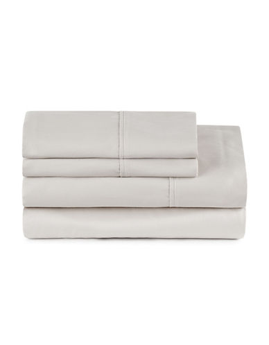 Distinctly Home Four-Piece 400 Thread-Count Egyptian Cotton Sheet Set-LUNAR ROCK-Queen