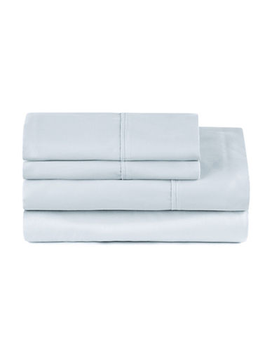 Distinctly Home Four-Piece 400 Thread-Count Egyptian Cotton Sheet Set-PALE BLUE-Queen