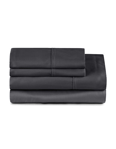 Distinctly Home Four-Piece 400 Thread-Count Egyptian Cotton Sheet Set-CAVIAR-King