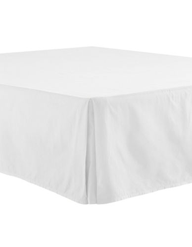 Distinctly Home 400 Thread-Count Egyptian Cotton Bedskirt-BRIGHT WHITE-King