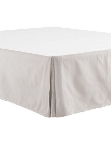 Distinctly Home 400 Thread-Count Egyptian Cotton Bedskirt-LUNAR ROCK-Queen