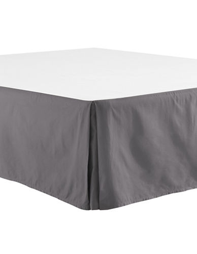 Distinctly Home 400 Thread-Count Egyptian Cotton Bedskirt-SMOKED PEARL-Queen