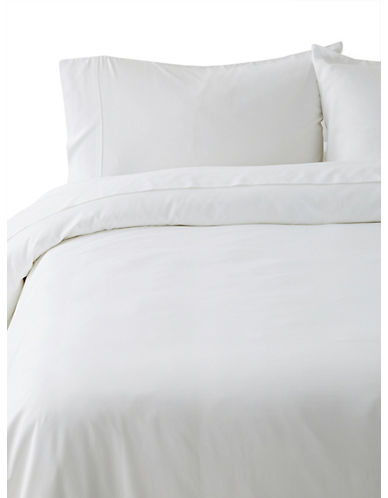 Distinctly Home Egyptian Cotton Duvet Cover-BRIGHT WHITE-Queen