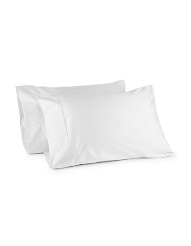 Distinctly Home Two-Piece 400 Thread Egyptian Count Cotton Pillowcases-BRIGHT WHITE-King