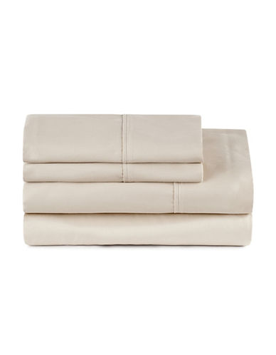Distinctly Home Four-Piece 400 Thread-Count Egyptian Cotton Sheet Set-OATMEAL-King