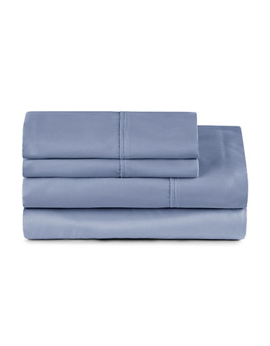 Distinctly Home Four-Piece 400 Thread-Count Egyptian Cotton Sheet Set-DENIM-Double