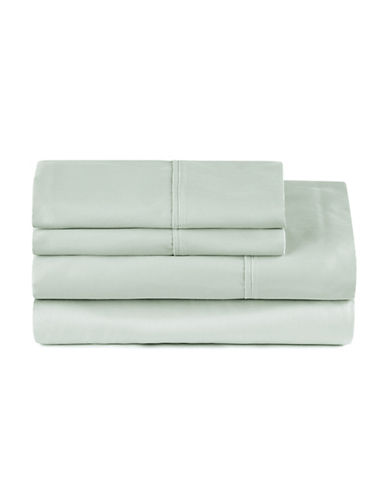 Distinctly Home Four-Piece 400 Thread-Count Egyptian Cotton Sheet Set-CELADON-King
