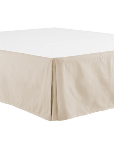 Distinctly Home 400 Thread-Count Egyptian Cotton Bedskirt-OATMEAL-Queen