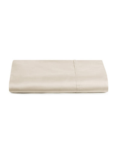 Distinctly Home 400 Thread Count Egyptian Cotton Flat Sheet-OATMEAL-Queen