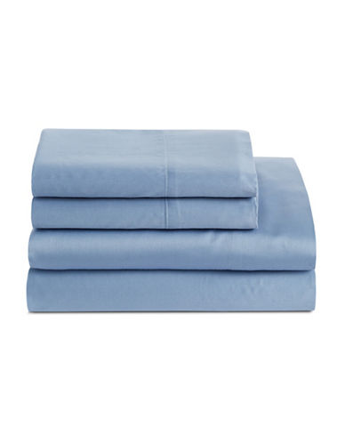 Distinctly Home 300 Thread-Count Cotton Sheet Set-BRIGHT BLUE-Queen