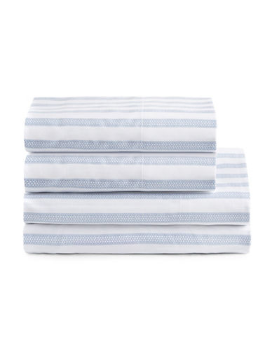 Distinctly Home 300 Thread-Count Cotton Sheet Set-BLUE-Twin XL