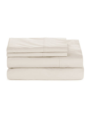 Glucksteinhome Four-Piece 300 Thread-Count Sheet Set-EGRET-Twin