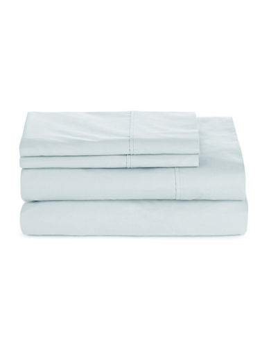 Glucksteinhome Four-Piece 300 Thread-Count Sheet Set-CELESTRIAL BLUE-Queen