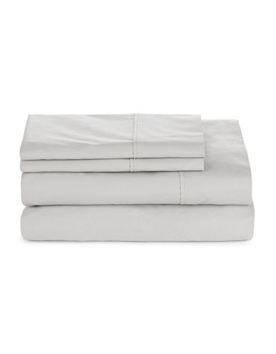 Glucksteinhome Four-Piece 300 Thread-Count Sheet Set-GREY-King