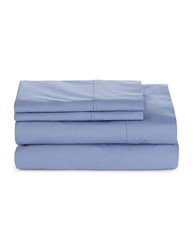 Glucksteinhome Four-Piece 300 Thread-Count Sheet Set-BLUE-Queen