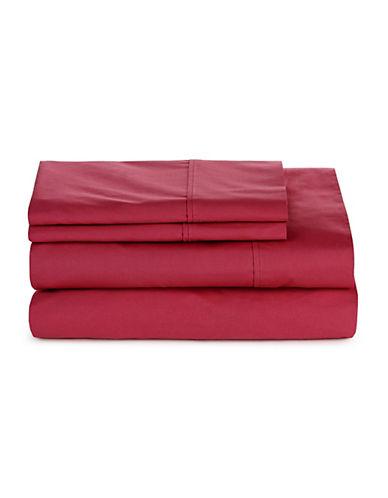 Glucksteinhome Four-Piece 300 Thread-Count Sheet Set-BIKING RED-Queen