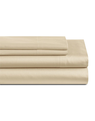 Home Studio Park Lawn 300 Thread-Count Three-Piece Sheet Set-EGRET-King