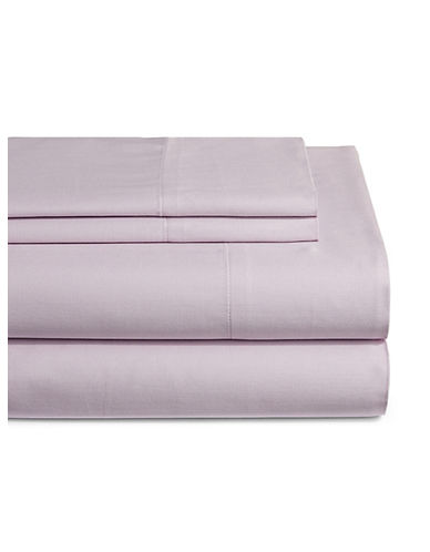 Home Studio Park Lawn 300 Thread-Count Three-Piece Sheet Set-LAVENDER-Twin