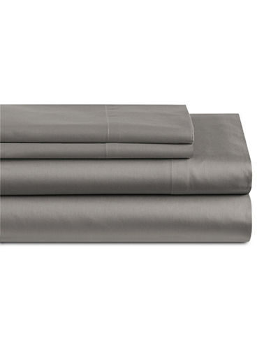 Home Studio Park Lawn 300 Thread-Count Three-Piece Sheet Set-FROST GREY-Twin