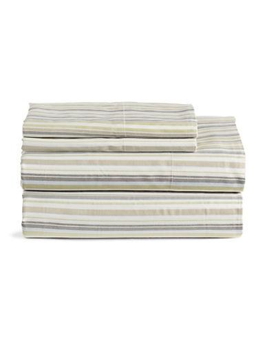 Home Studio 4 Piece Striped Park Lawn Sheet Set-MULTI-Queen
