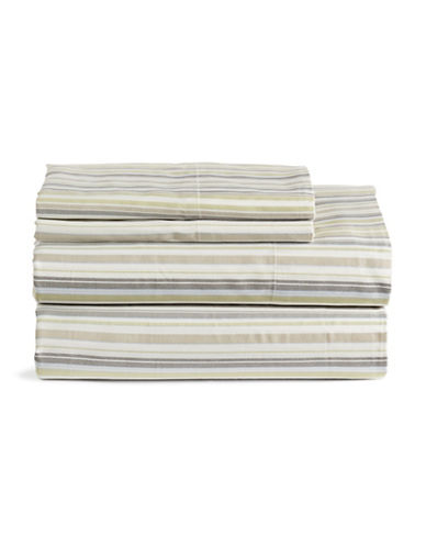 Home Studio Park Lawn 300 Thread-Count Striped Sheet Set-STRIPE-King
