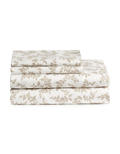 Home Studio 4 Piece Park Lawn Leaf Sheet Set-LEAF-Twin