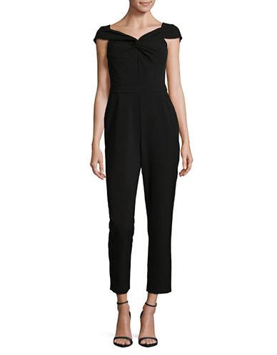 Adelyn Rae Plain Off-the-Shoulder Jumpsuit-BLACK-Large