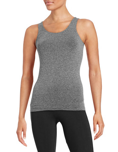 Design Lab Lord & Taylor Seamless Tank Top-GREY-One Size